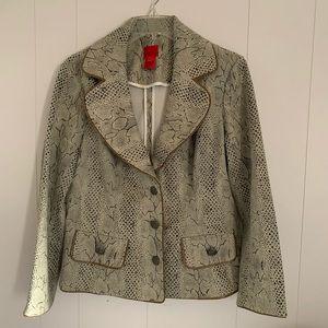 EUC   Cristina jacket - size L - snake print